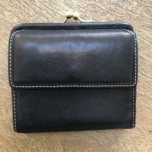 Coach Wallet Black Leather